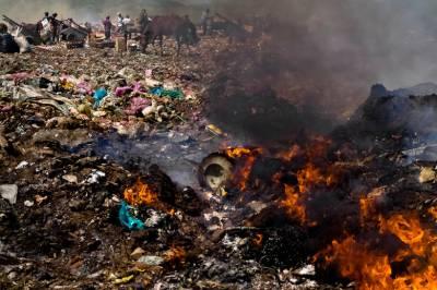 Faisalabad: Newborn dumped in garbage burnt alive to death