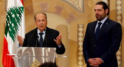 Lebanon's Aoun upbeat on Hariri comments, says political deal still stands