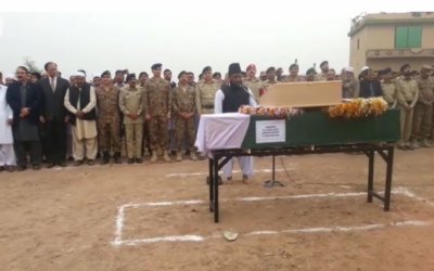 Funeral prayers of martyred captain offered