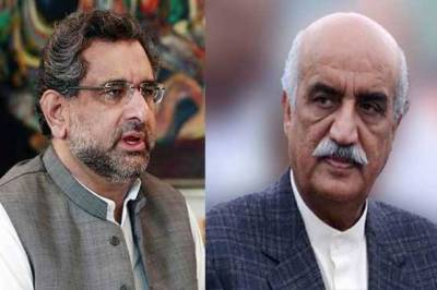 PM Abbasi meets Shah, seeks PPP's help for delimitation after census