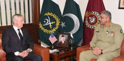 COAS Bajwa meets Mattis over Pakistan's concerns regarding India using Afghan soil