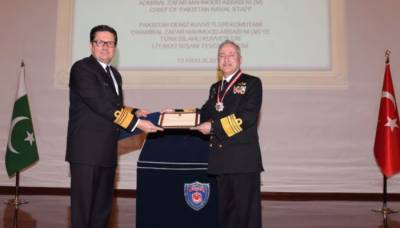 Naval chief Admiral Abbasi honoured Turkish Armed Forces Legion of Merit