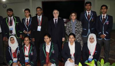 Pakistan sports youth delegation visits Pakistan Embassy, Beijing