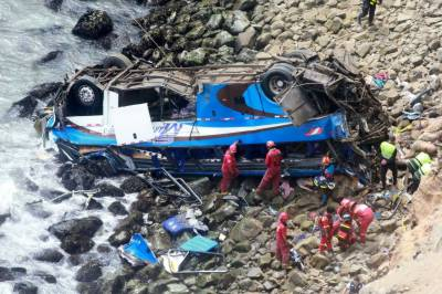 Death toll from Peru bus crash rises to 48
