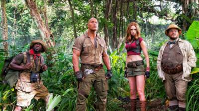 'Jumanji: Welcome to the Jungle' roars past 'Star Wars: The Last Jedi,' 'Insidious 4'