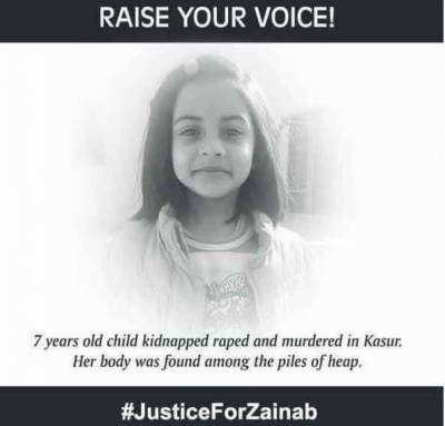#Justice for Zainab: Hearts bleed for innocent