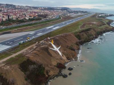 Watch: plane skids off runway no injuries reported