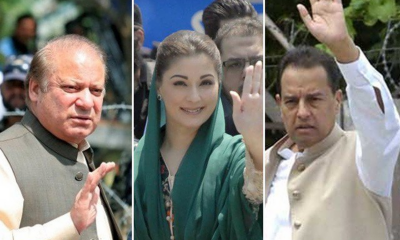 Ousted PM Nawaz, Maryam and Safdar appear before court in graft cases