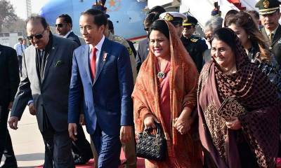 Indonesia's President Joko Widodo arrives in Islamabad