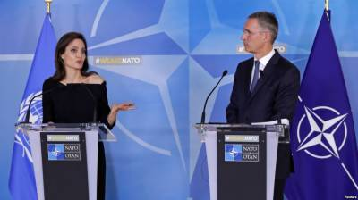 Angelina Jolie urges NATO to tackle sexual violence in war
