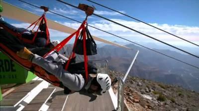 UAE claims world's longest zipline