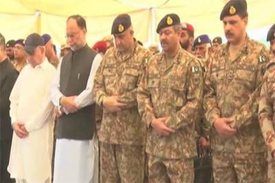 Funeral prayers of security personnel martyred in Swat suicide attack offered