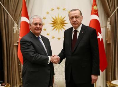 US envoy Tillerson meets Turkey's Erdogan for 'open' talks after weeks of strain