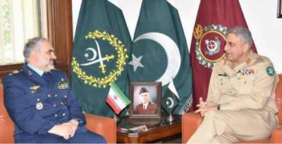 Iranian Air Force Commander meets Pakistan Army Chief at GHQ