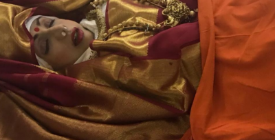 Sridevi draped in Tricolour saree on her last journey (Pics)