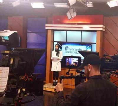 Hijab-wearing TV reporter in US breaks barriers