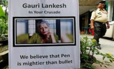 Hard-liner Hindu arrested for killing journalist Lankesh