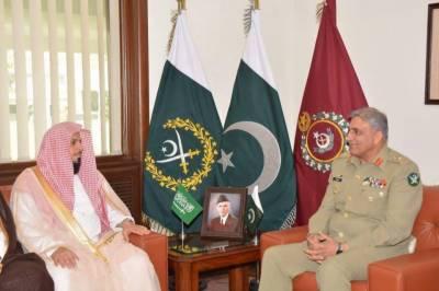 COAS Gen. Bajwa meets Imam e Kaaba, South African Army Chief