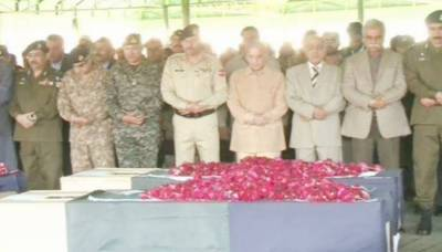 Funeral prayers of police officers martyred in Raiwind blast offered