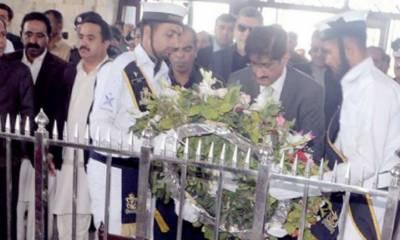 Sindh Governor, CM visit Mazar-e-Quaid on Pakistan Day