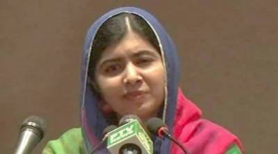 Malala breaks down in tears in homecoming speech, says dreamed of returning to Pakistan
