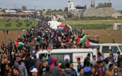 Israeli forces martyr 10 Palestinians in Land Day protests