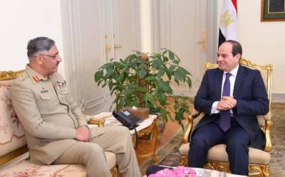 Lieutenant-General Zubair Hayat meets President Al Sisi