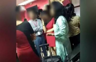 Air hostesses accuse crew of strip search