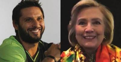 'Boom-Boom' Afridi thanks Hillary Clinton over her support for his welfare organization