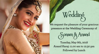 Look! Sonam, Anand's wedding card is as elegant as them