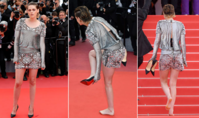 Twilight's actor protests Cannes' 'NO flats' policy, walks barefoot on red carpet