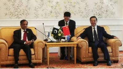 CJP Nisar meets Chinese counterpart
