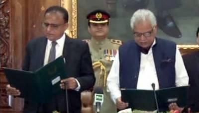 Justice (retd) Dost Muhammad Khan takes oath as caretaker KP CM