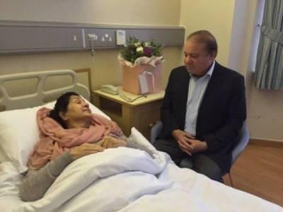 Begum Kulsoom's condition slightly better than before, says Nawaz