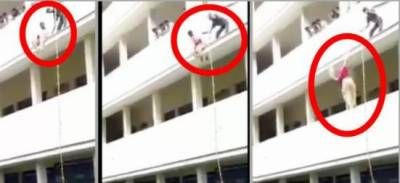 Watch: Girl student pushed to death during safety drill