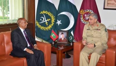 COAS Bajwa, Maldives envoy discuss regional security