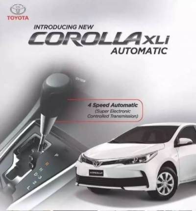 Corolla starts booking for Xli 4-speed auto transmission