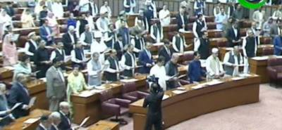 Newly-elected MNAs take oath at first session of 15th National Assembly