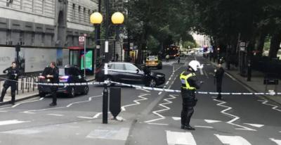 Pedestrians injured in car crash outside UK parliament