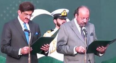 Murad Ali Shah takes oath as Sindh CM