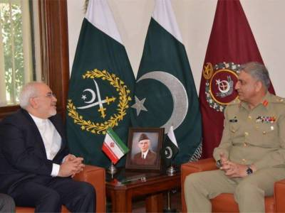 COAS Bajwa, Iranian FM Javad Zarif discuss regional security