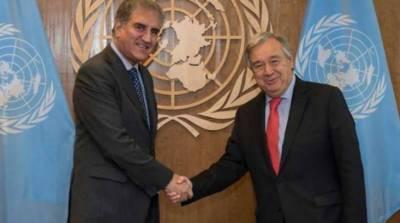 FM Qureshi, UN chief discuss regional situation, Kashmir dispute