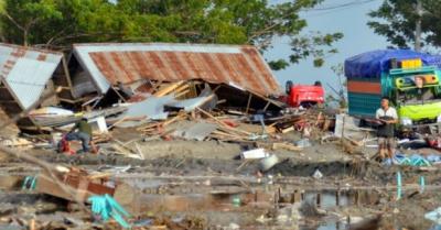 Nearly 400 people killed in Indonesia quake and tsunami