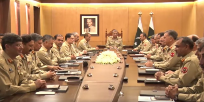 Corps Commanders review geo-strategic environment, security situation: ISPR