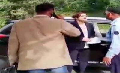 Video: Woman arrested for threatening police officials in diplomatic enclave