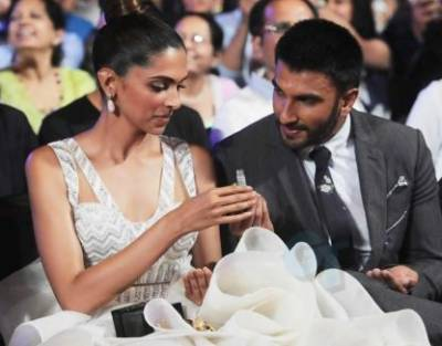 Deepika, Ranveer leave for their destination wedding