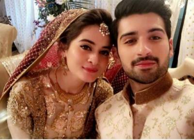 Pics: Aiman Khan, Muneeb Butt tie the knot