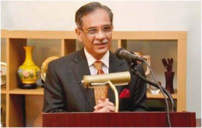 CJP Nisar arrives in Pakistan after completing week-long dam fund tour
