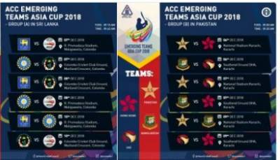 Pakistan, Sri Lanka to jointly host Emerging Teams Asia Cup 2018