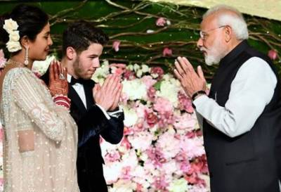 Modi attends Priyanka, Nick wedding reception